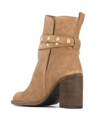 See By Chloé - Natural - 'janis' High Boots - Women - Leather - 40 - Lyst