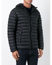 Stone Island - Black Hooded Padded Jacket for Men - Lyst