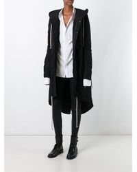 DRKSHDW by Rick Owens | Black Hooded Parka | Lyst