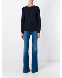 Erika Cavallini Semi Couture - Blue Crew Neck Jumper - Lyst