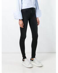 Rag & Bone - Black Stonewashed Skinny Jeans - Lyst