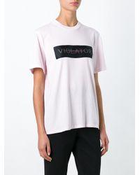 Alexander Wang - Black Violator Print T-shirt - Lyst