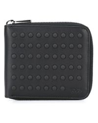 Tod's - Black 'buds' Zipped Wallet for Men - Lyst