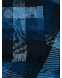 Ermenegildo Zegna - Blue Checked Scarf for Men - Lyst