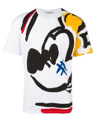 Iceberg - White 'mikey Mouse' T-shirt for Men - Lyst