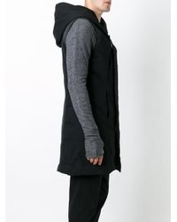 Andrea Ya'aqov - Black Sleeveless Padded Coat for Men - Lyst