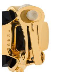 Marni - Metallic Strass Clip On Earrings - Lyst