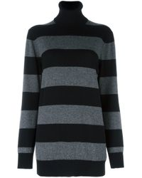 Dolce & Gabbana | Black Striped Jumper | Lyst