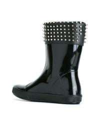 Philipp Plein - Black Studded Rain Boots - Lyst