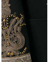 Etro | Black Embroidered Pattern Sports Coat | Lyst