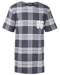 Helmut Lang - Gray Plaid T-shirt for Men - Lyst