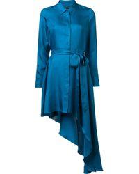 Thomas Wylde | Blue Silk 'purple Haze' Dress | Lyst