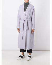 Forte Forte - Gray Long Robe Coat - Lyst
