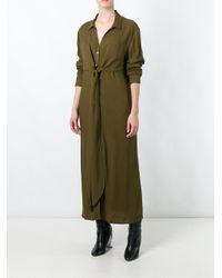 Libertine-Libertine - Green 'effect' Maxi Shirt Dress - Lyst