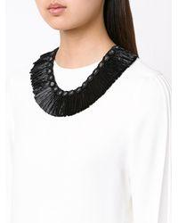 Figue - Black Raffia Necklace - Lyst