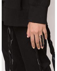 Nicopanda - Black 'panda Nation' Brace Ring - Lyst