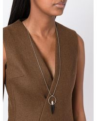 Isabel Marant - Metallic Buffalo Bone Drop Necklace - Lyst