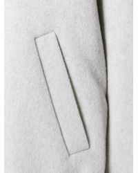Enfold | White Enföld Welt Pockets Buttoned Coat | Lyst
