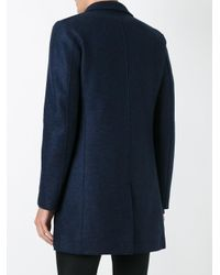 Harris Wharf London - Blue 'chester' Pressed Coat for Men - Lyst