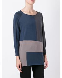 Fabiana Filippi - Blue Block Colour Jumper - Lyst