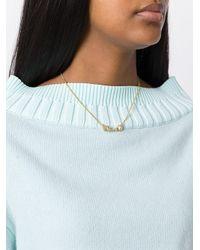 Fendi - Metallic 'crystal Wonders' Necklace - Lyst
