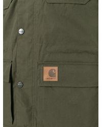 Carhartt - Green Zip Up Parka Coat for Men - Lyst