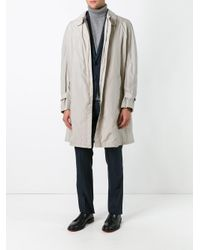 Armani - Blue Concealed Fastening Raincoat for Men - Lyst