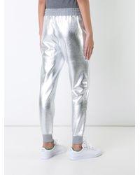 Love Moschino - Metallic (grey) Track Pants - Lyst