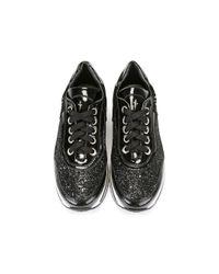 Cesare Paciotti - Black Glitter Sneakers - Lyst