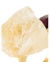 Marni | Metallic Citrine Stone Ring | Lyst