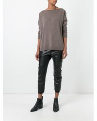 Giada Benincasa - Brown Fine Knit Jumper - Lyst