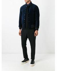 Engineered Garments - Blue Velvet Bomber Jacket for Men - Lyst