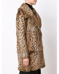 Cushnie et Ochs - Brown Animal Print Coat - Lyst