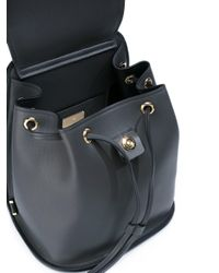 Ferragamo - Gray Gancio Backpack - Lyst