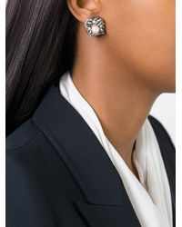 Rada' | Metallic Radà Stone Embellished Earrings | Lyst