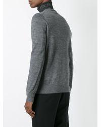 Comme des Garçons - Gray V-neck Jumper for Men - Lyst