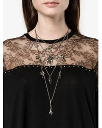 Valentino - Metallic Garavani Tiered Chain Multi-charm Necklace - Lyst