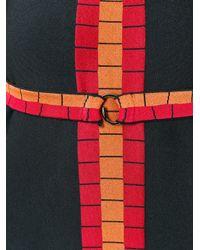 Alaïa | Black Alaïa Geometric Print Dress | Lyst