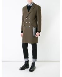 Guild Prime - Green Double-breasted Mid Coat for Men - Lyst