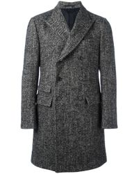 Z Zegna | Gray Double Breasted Coat for Men | Lyst