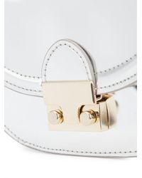 Loeffler Randall - Metallic Mini 'saddle' Crossbody Bag - Lyst