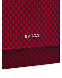 Bally - Red Printed Stafford Chain Bag - Lyst