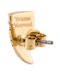 Vivienne Westwood - Metallic 'venicius' Stud Earring - Lyst