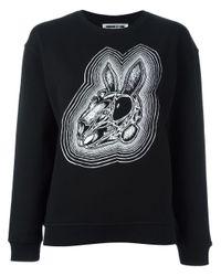 McQ Alexander McQueen | Black Bunny Print Sweatshirt | Lyst