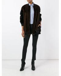 Blancha - Brown Zipped Coat - Lyst