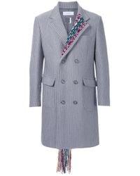 Facetasm | Gray ' Chester' Coat for Men | Lyst