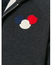 Moncler | Black Logo Plaque Hoodie for Men | Lyst