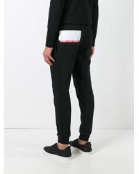McQ - Black Graphic Print Track Pants for Men - Lyst