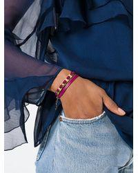 Ferragamo - Red Varini Wrap Bracelet - Lyst