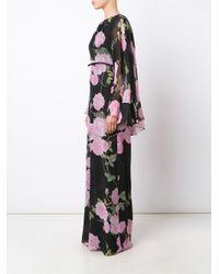 Giambattista Valli - Black Floral Print Maxi Dress - Lyst